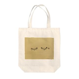 つけまつげ Tote bags