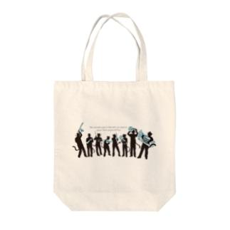 金管打楽器8重奏にゃ Tote bags