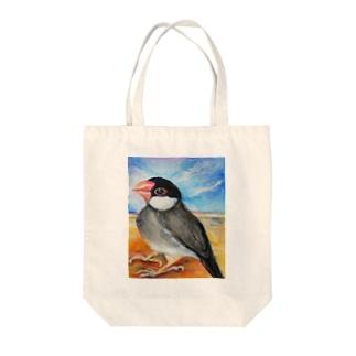 水彩な文鳥さん Tote bags