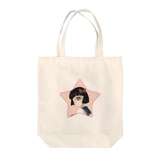 かさねちゃん Tote bags