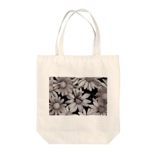 モノクロ花園ロゴ Tote bags