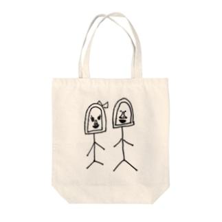 ゴリオとゴリ子 Tote bags