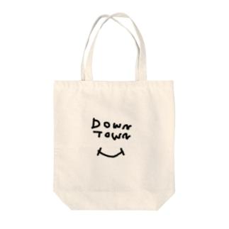 ダウンタウン スマイル Tote bags