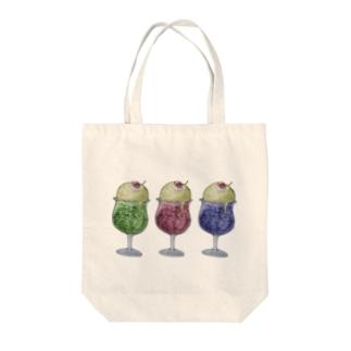 ねこねこカラフルクリームソーダ Tote bags