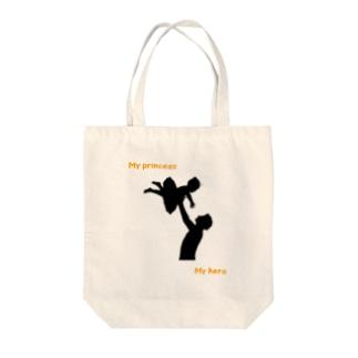 父の日 × バレエ 【my princess my hero】 Tote bags