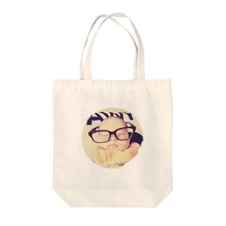 ハッパフミフミ Tote bags
