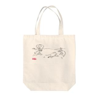 医療獣戯画7 Tote bags