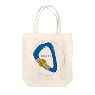安全環付きカラビナ Tote bags