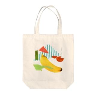 こんぶさんのカットアンドペースト(バナナ) Tote bags