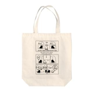 ピヨコミ『天国の扉はどっち?』 Tote bags