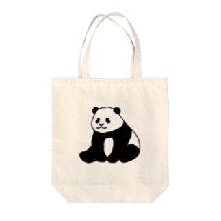ころころパンダ(おすわり)(線あり) Tote bags