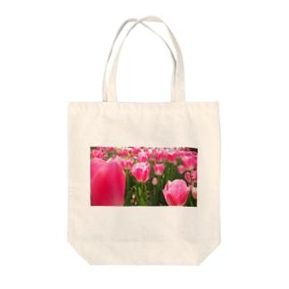 ぴかぴかチューリップ Tote bags