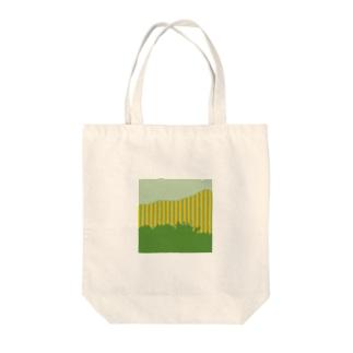 森とストライプ Tote bags