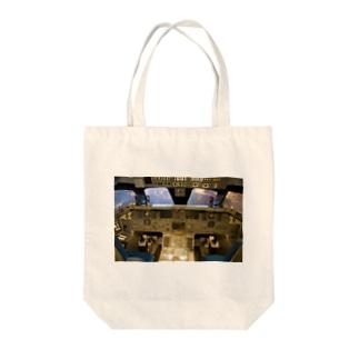 スペースシャトル コクピット Tote bags