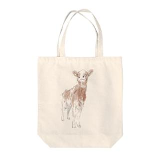 レッドの牛は特別扱いしたくなる Tote bags