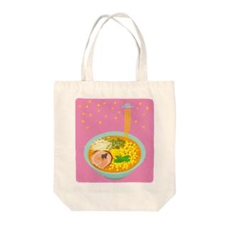 キャトル味噌ティレーション Tote bags