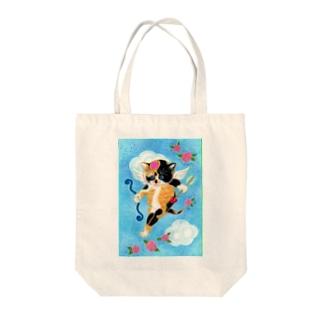 ハートのニャミ キューピッド Tote bags