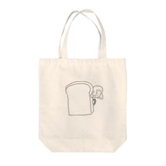 パンからちらり Tote bags