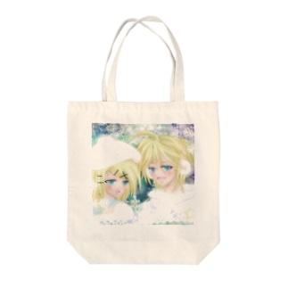 鏡音リンとレン 冬景色 Tote bags