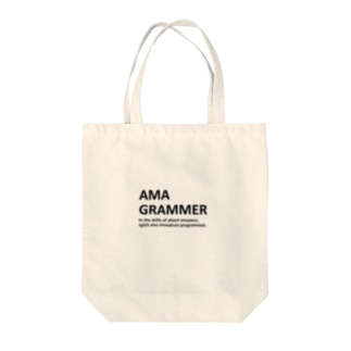 AMAGRAMMER Tote bags