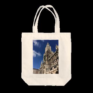 虚数のモノモノの世界の風景:Marienplatz  Tote bags