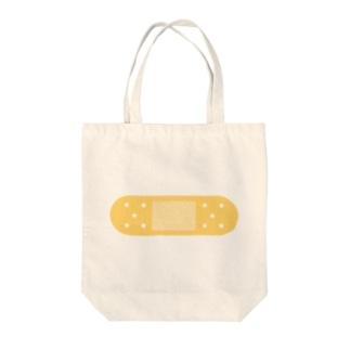 絆創膏イラスト Tote bags