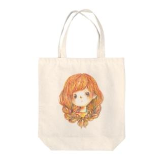 みつあみ Tote bags