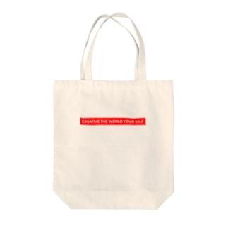 sappori BLOGのcreative the world your self(赤) Tote Bag