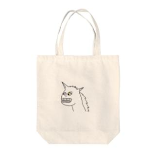 うま   笑 Tote bags