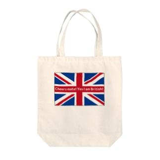 BRITISH Tote bags