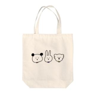 パンダウサギコアラ Tote bags