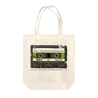 """Analog is Real"" CASSETTE TAPE Tote bags"