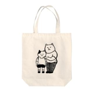 猫 母と息子 Tote bags
