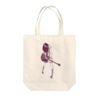 ギターガール013 Tote bags