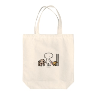Mr.AWKWARD with Dog Tote bags