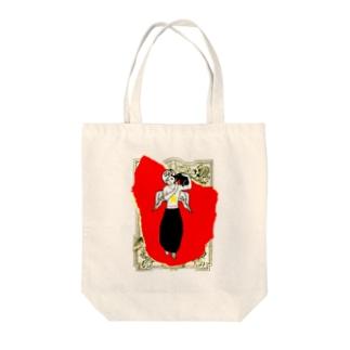 赤い天使と黒猫 Tote bags