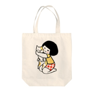 猫抱け/猫 Tote bags