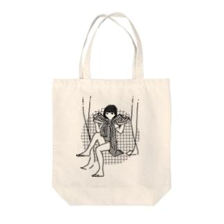 きゅっ Tote bags