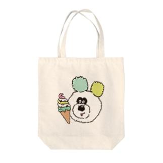 アイスとりのくまちゃん Tote bags