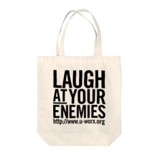 LAUGH AT YOUR ENEMIES トートバッグ