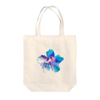 Flower-Sky② Tote bags