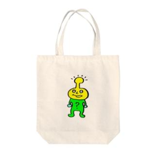 ハテナ Tote bags