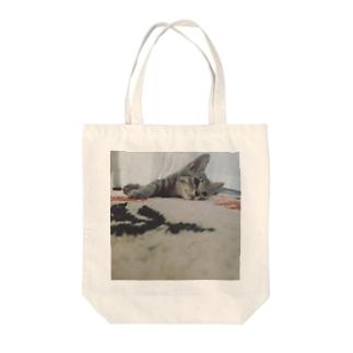 あっしゅくん① Tote bags
