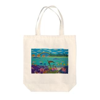 ニューカレドニアのサンゴ礁 Tote bags