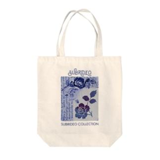 ブルーローズ Tote bags
