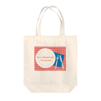 TABLE-PINK Tote bags