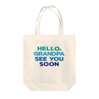 GRANDPA Tote bags