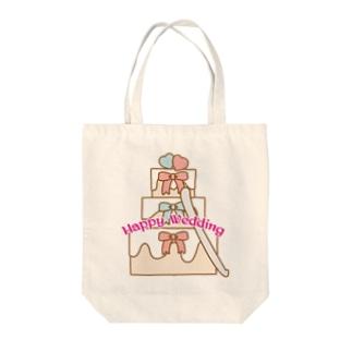 ウェディングケーキ Tote bags