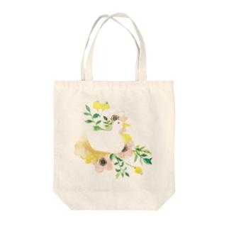 お花とあひる Tote bags