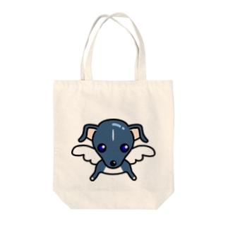 天使犬ラル Tote bags